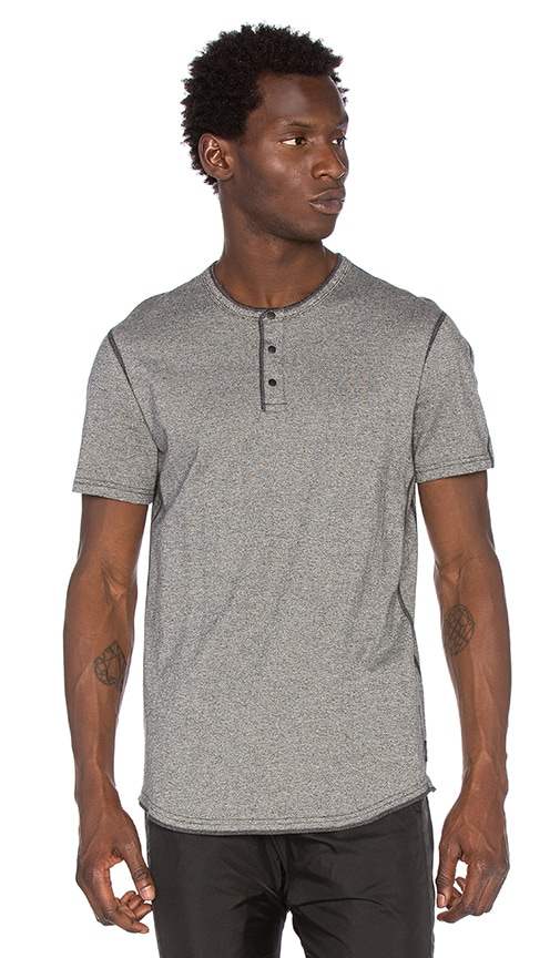 Reigning Champ S/S Henley in Charcoal