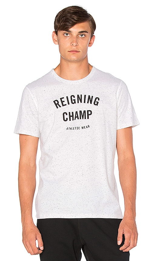 Reigning Champ Gym Logo S/S Tee in White
