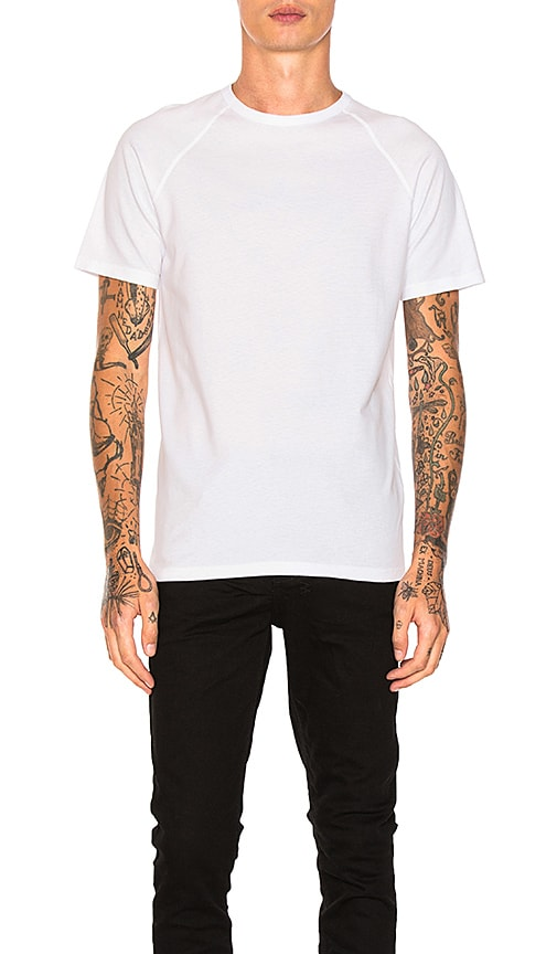 Reigning Champ Raglan Tee in White