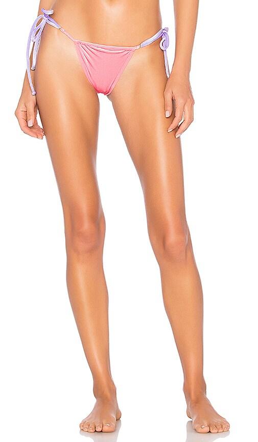 REINA OLGA Through Hoops Bikini Bottom in Pink