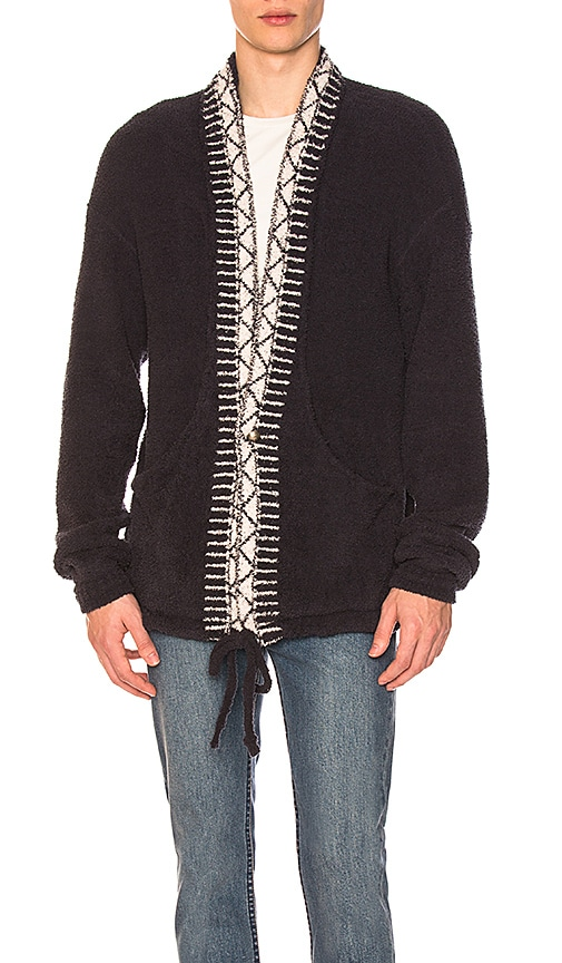 Remi Relief Native Polyester Mole Cardigan in Blue