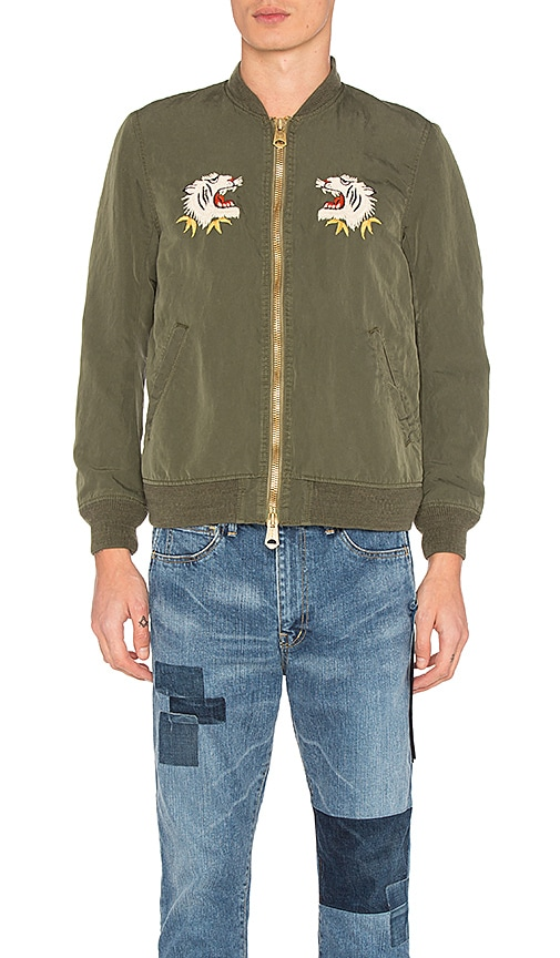 Remi Relief Nylon 66 Alaska Bomber Jacket in Army