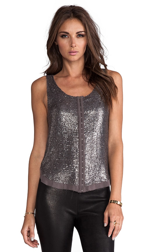 2 Tone Sequin Hook and Eye Tank