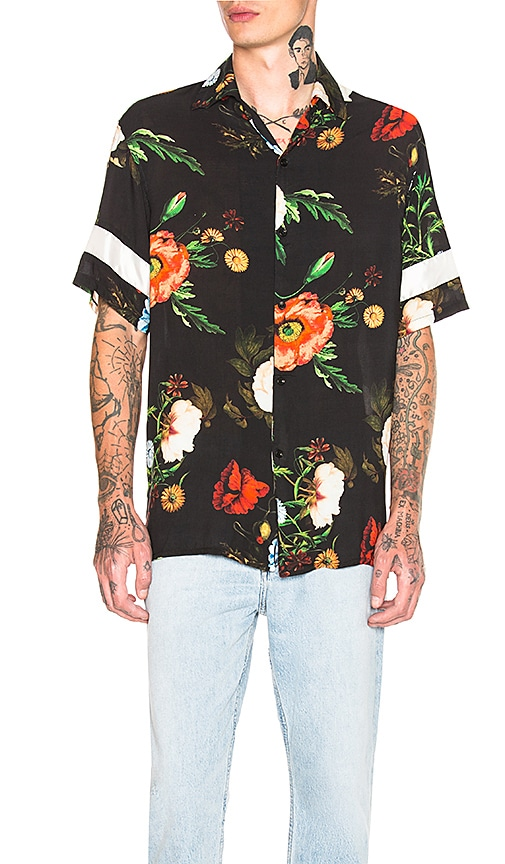 REPRESENT Multi Floral Shirt in Black
