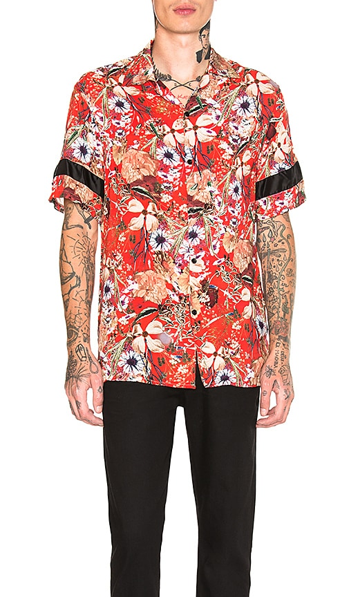 REPRESENT Red Floral Shirt in Red
