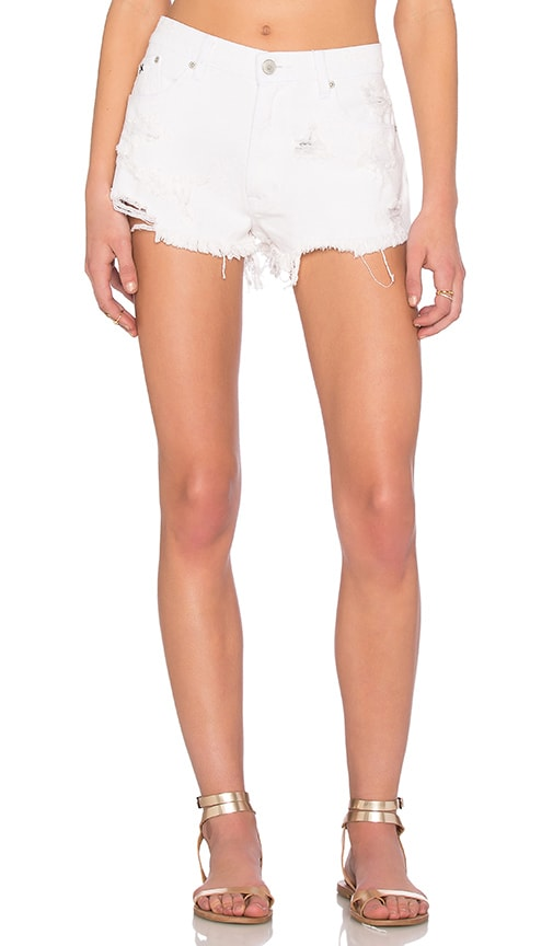 RES Denim Tiny Dancer Short in White Walker