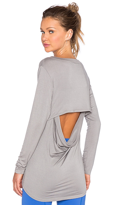 Rese Megan Long Sleeve Top in Grey