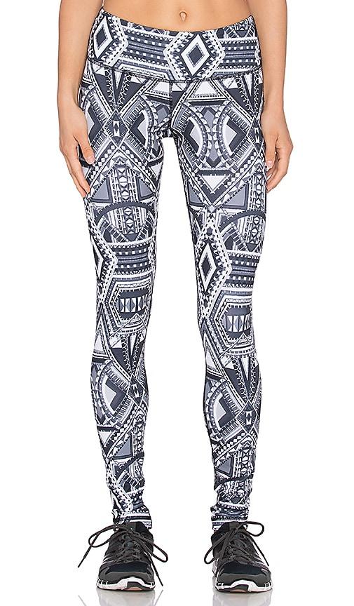 Rese Kori Printed Legging in Black & White Large Geo Print