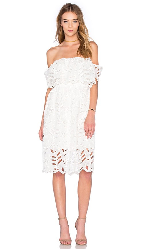 REVERSE Elope Dress in White
