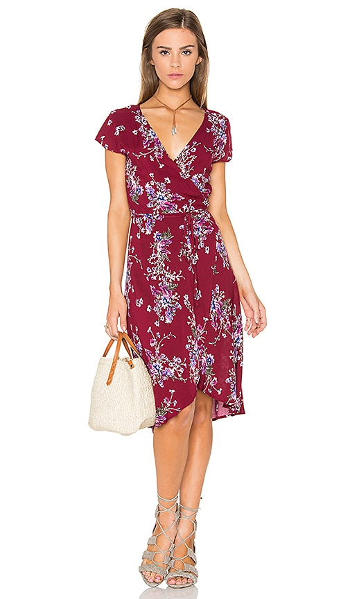 REVERSE Caroline Dress in Burgundy