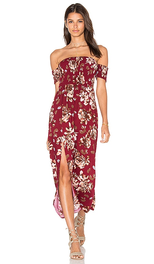 REVERSE Taylor Dress in Burgundy