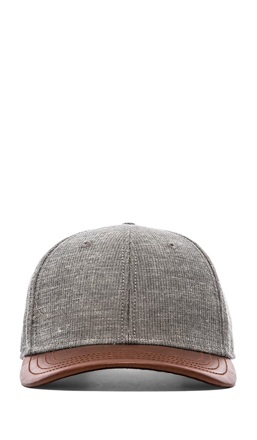 Leather Brim Baseball Cap