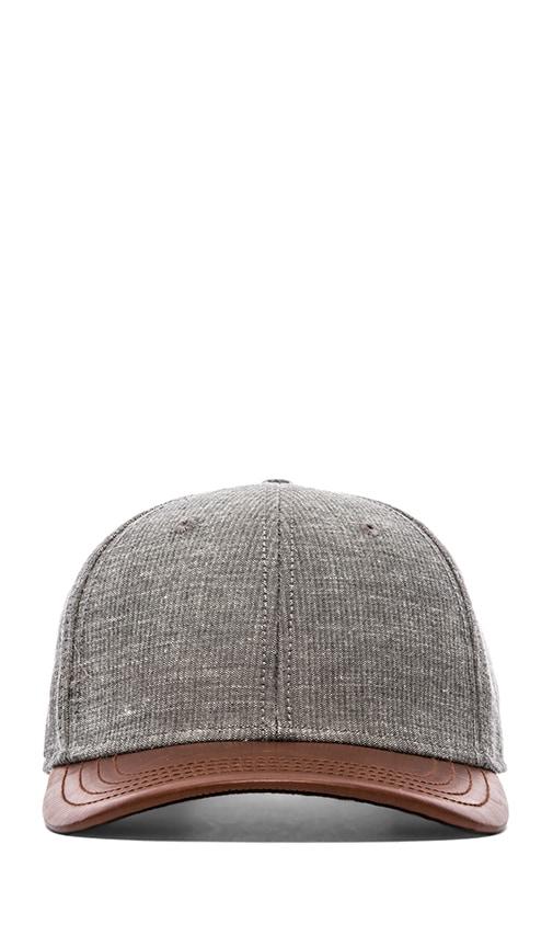 Leather Brim Baseball Cap