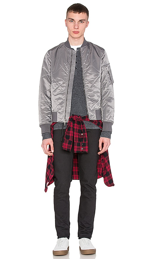 Rag & Bone Quilted Manston Jacket in Grey