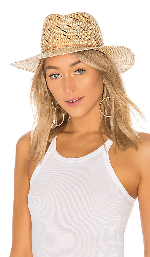 0c51b26124e Rag   Bone Zoe Straw Hat in Taupe Multi