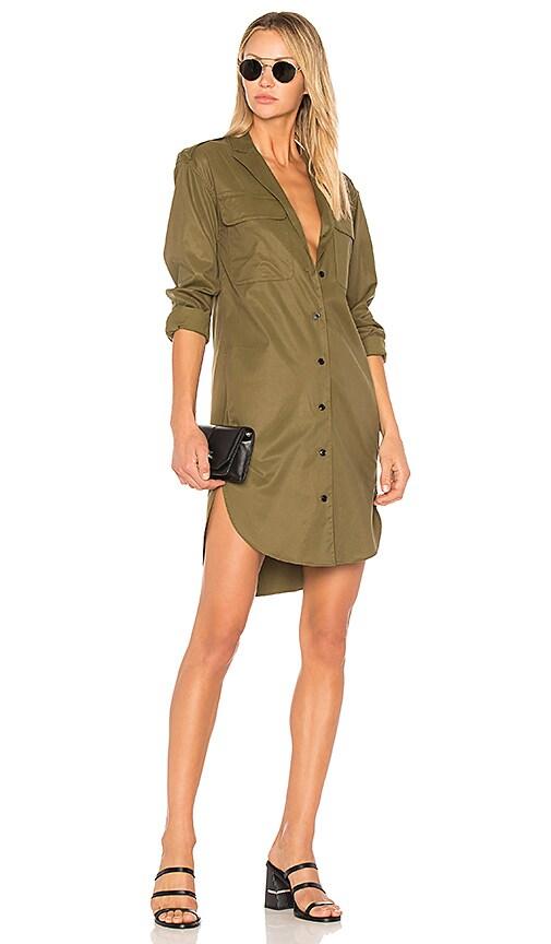 Rag & Bone Mason Shirt Dress in Olive