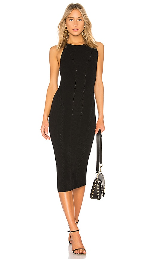 Rag & Bone Brandy Midi Dress in Black