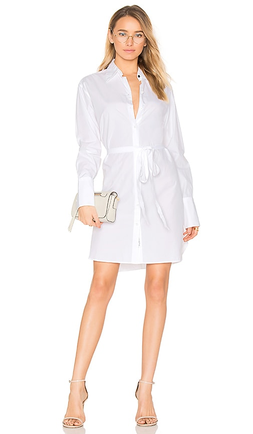 Rag & Bone Essex Shirt Dress in White