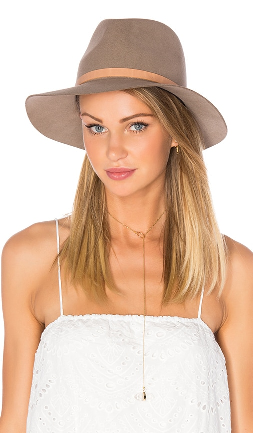 Rag   Bone Floppy Brim Fedora in Almond  a7e42137615
