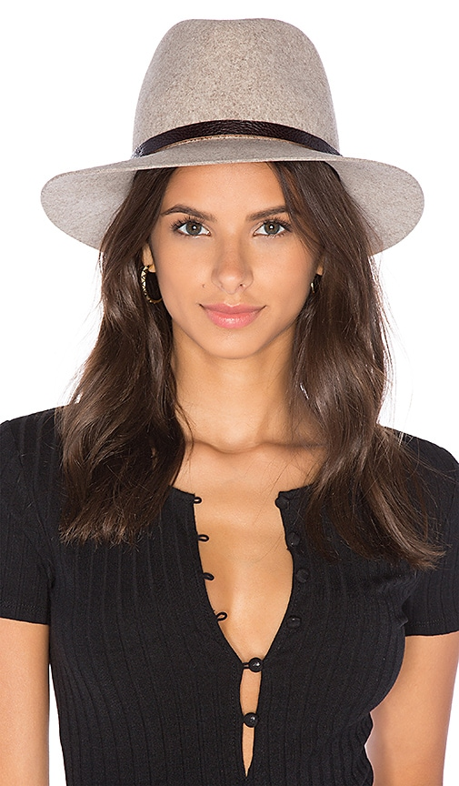 Rag   Bone Floppy Brim Fedora in Brown Multi  aeccb7ae659