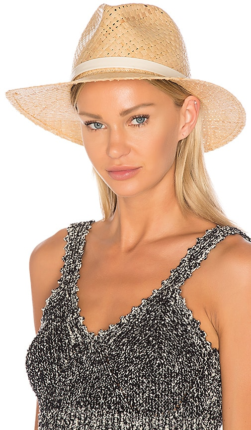 Rag & Bone Raffia Wide Brim Hat in Tan