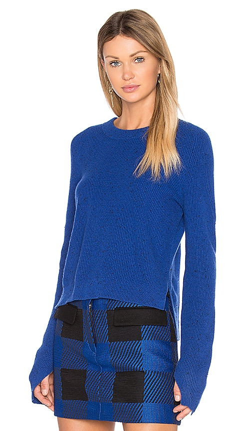 Rag & Bone Valentina Cashmere Crop Sweater in Royal