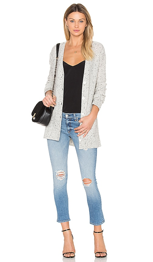 Rag & Bone Tamara Cashmere Cardigan in Grey