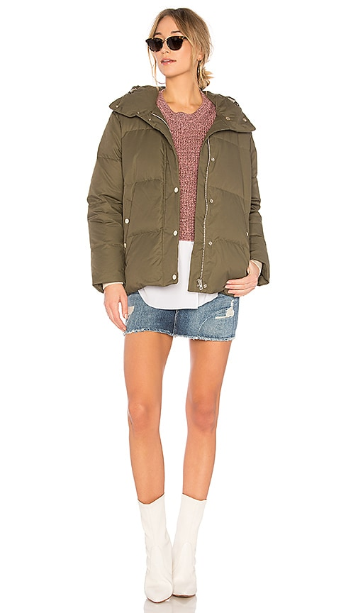 Rag & Bone Leonard Puffer Coat in Green