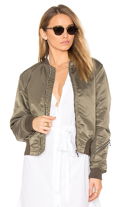 Rag & Bone Morton Bomber Jacket in Green