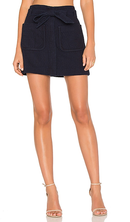 Rag & Bone Esmond Skirt in Navy
