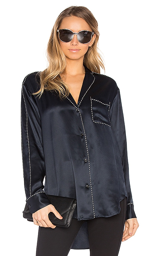 Rag & Bone Hahn Pyjama Top in Black