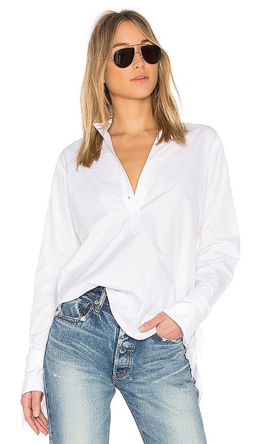 Rag & Bone Dylan Shirt in White