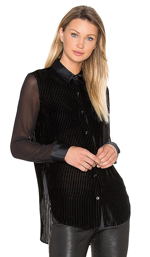 Rag & Bone Danni Blouse in Black