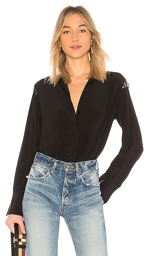 Rag & Bone Hana Blouse in Black