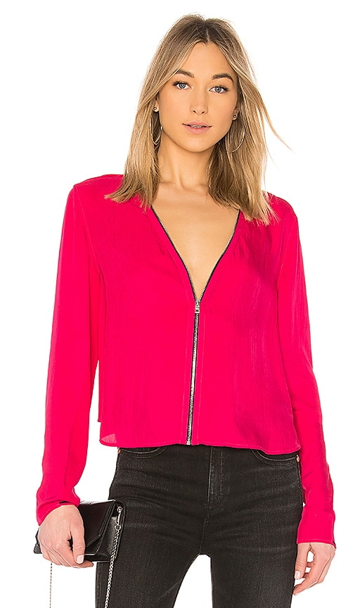 Rag & Bone Vanessa Top in Fuchsia