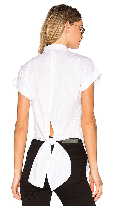 Rag & Bone Ara Tie Back Blouse in White