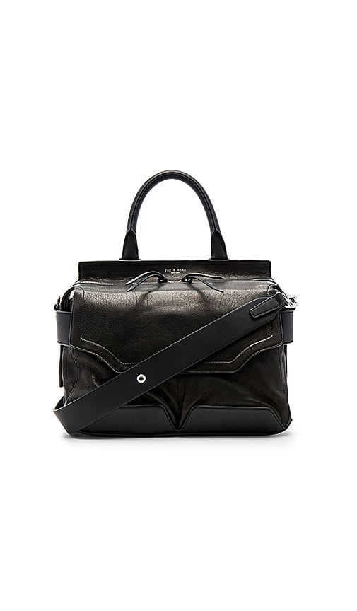 Rag & Bone Pilot Satchel in Black