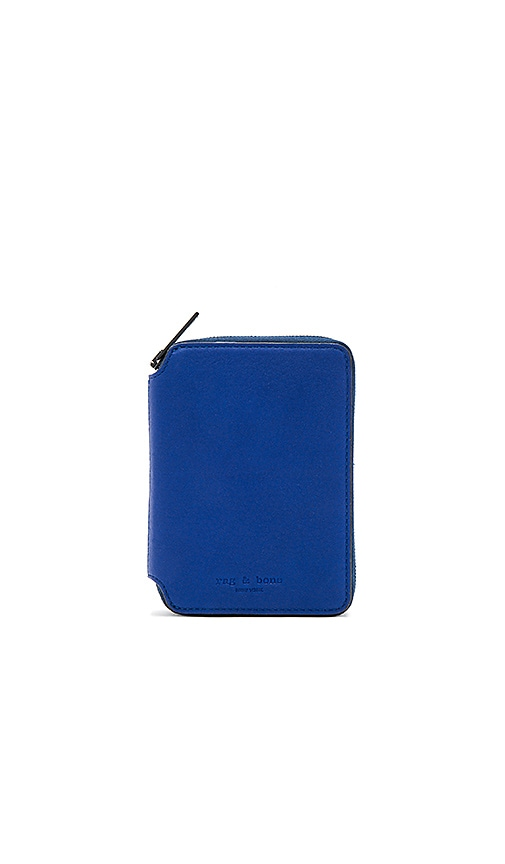 Rag & Bone Small Zip Around Wallet in Royal