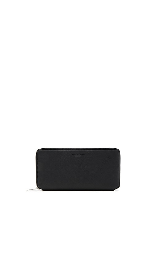 Rag & Bone Zip Around Wallet in Black