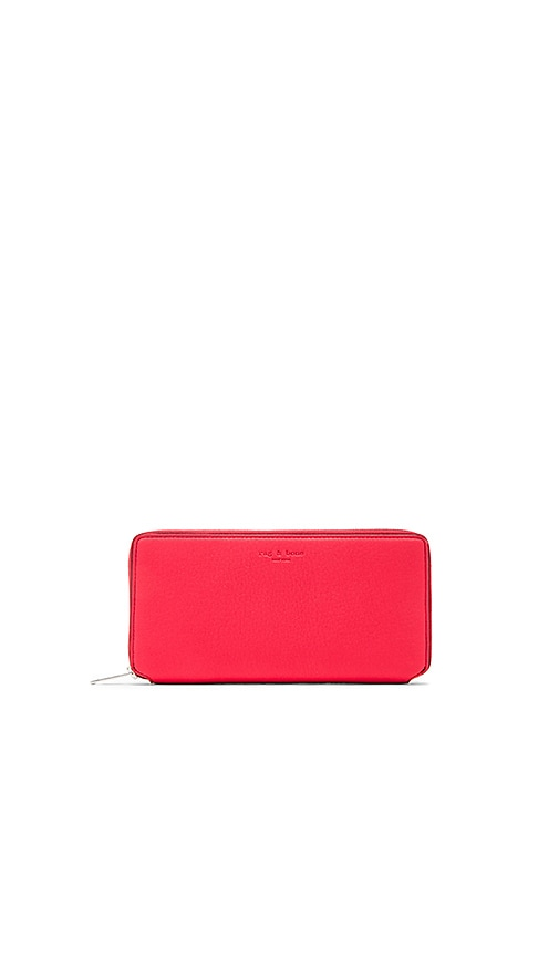 Rag & Bone Zip Around Wallet in Red