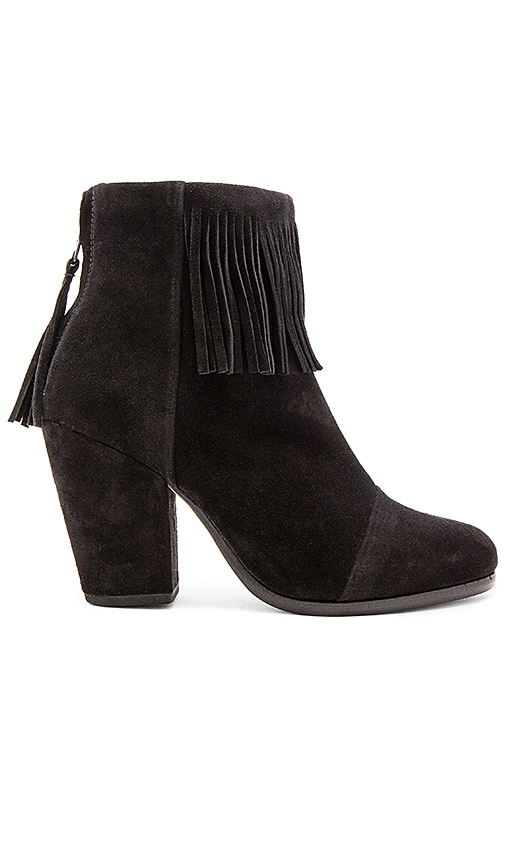Rag & Bone Newbury Fringe Bootie in Black