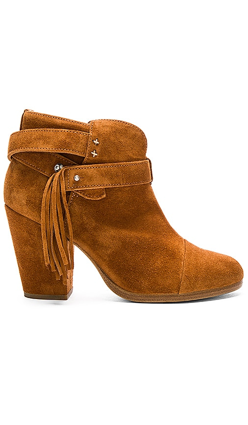 Rag & Bone Harrow Fringe Bootie in Tan Suede