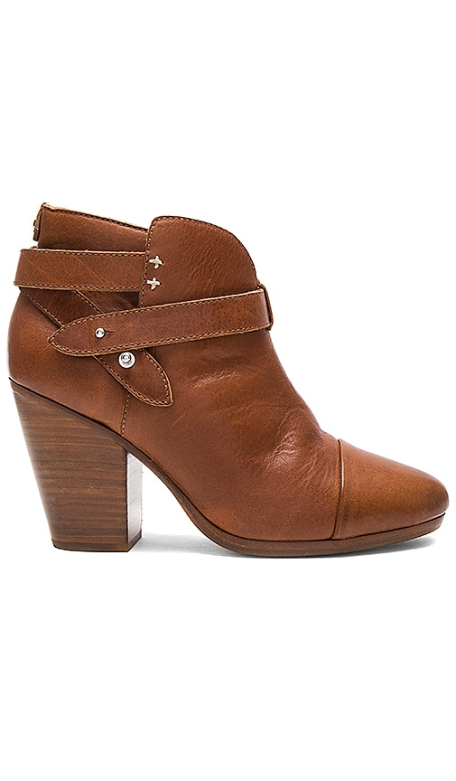 Rag & Bone Harrow Boot with Shearling Lining in Cognac