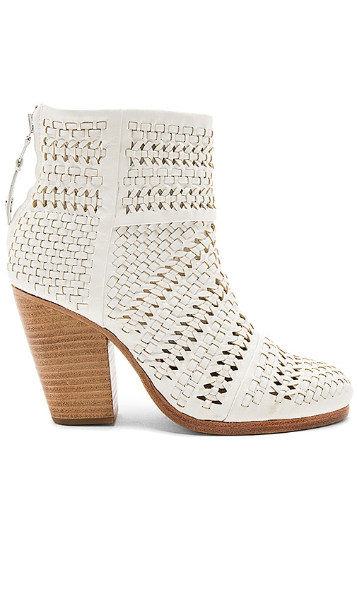 Rag & Bone Classic Newbury Bootie in White