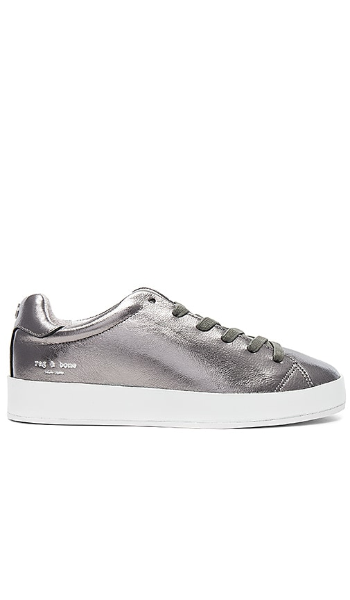 Rag & Bone RB1 Low Sneaker in Metallic Silver