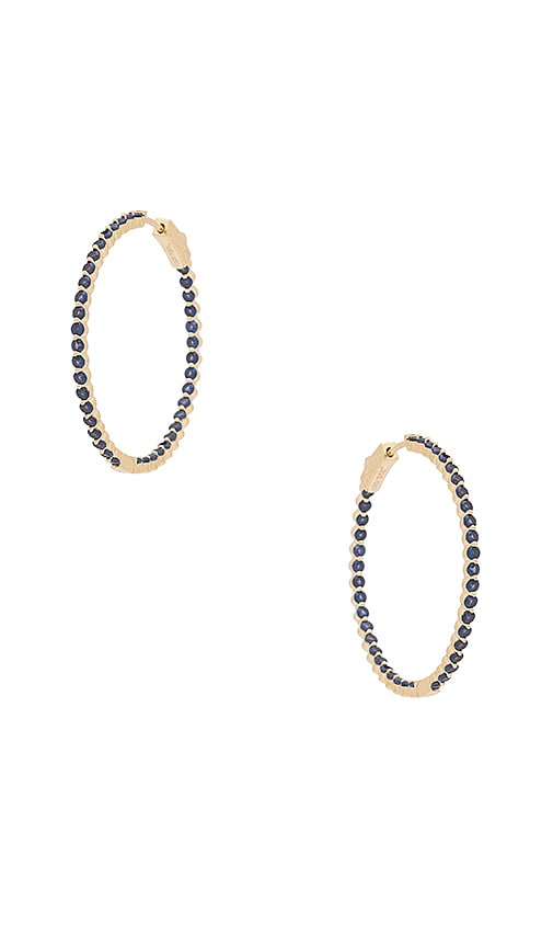 Small Blue & Gold Hoops