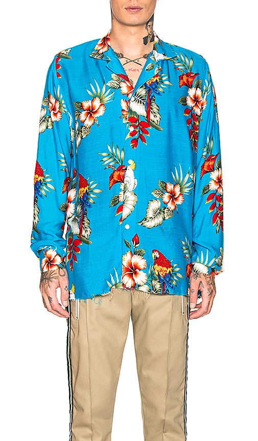 Hawaiian Birds Of Paradies Shirt by Rhude