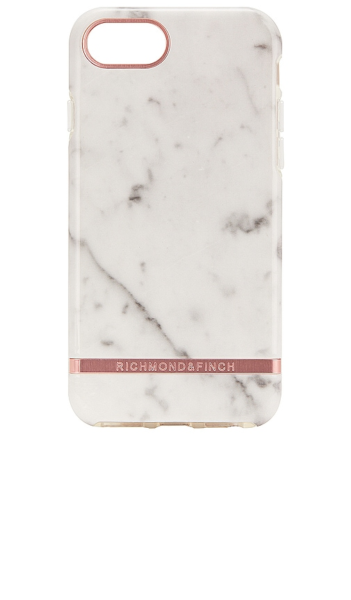 White Marble & Rose iPhone 6/7/8 Case