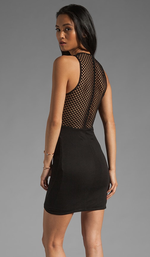Tatjana Fitted Mini with Fishnet Back
