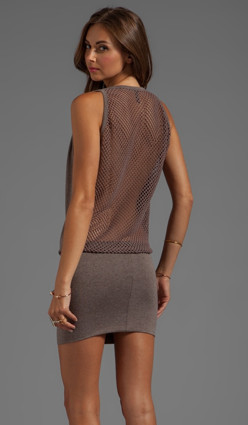 Jason Fishnet Back Dress